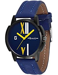 Geonardo's Tornado Blue Dial Leather Strap Sports Watch For Men & Boys-GDM008