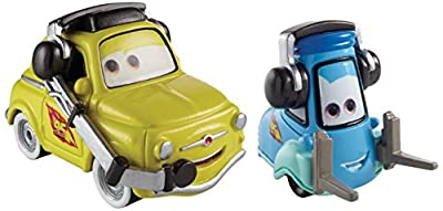 Disney/Pixar Cars, 95 Pit Crew Die-Cast Vehicles, Race Team Luigi & Guido with Headsets #4,5/5, 1:55 Scale by Mattel