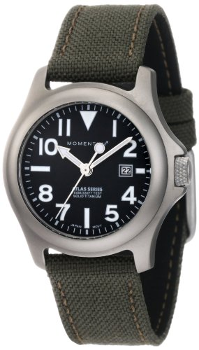 Momentum Women's 1M-SP01B6G Atlas Black Dial Khaki Cordura Watch