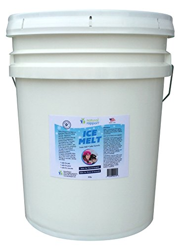 Ice Melt for families with pets - Larger Bulk 50-lb Pail - Safe for use as a snow and ice melter on driveways and sidewalks (Safe Driveway Salt compare prices)