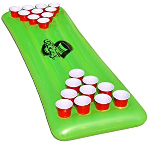 Buy GoPong Pool Pong Table, Inflatable Floating Beer Pong Table, Includes 3 Pong Balls by GoPong