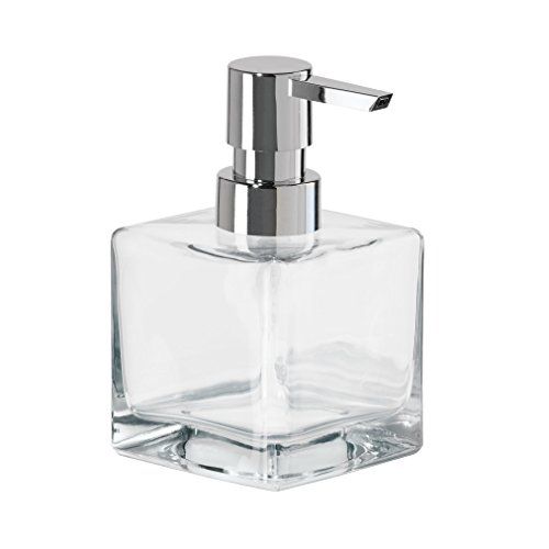 Oggi 8Oz Square Glass Lotion & Soap Dispenser For Kitchen or Bath-Clear (Square Glass Soap Dispenser compare prices)