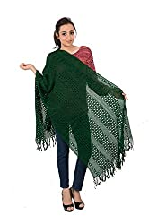 VARDA Women's Stole (crosiawork green (1))