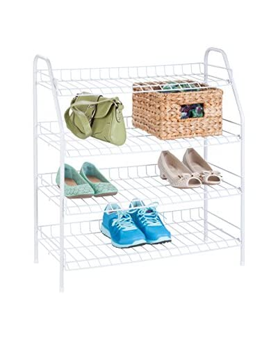 Honey-Can-Do 4-Tier Wire Shelf, White