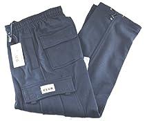 Pro Club Fleece Cargo Sweatpants 13.0oz 60/40 Large Navy