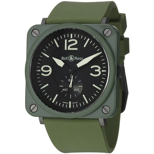 Bell & Ross Aviation Men's Kaki Ceramic Quartz