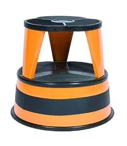 Cramer 1001-30 Kik Step Rolling Step Stool, Orange Zest