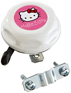 Pseudo Kinder Fahrradglocke Hello Kitty, weiß, 62316 by Bike Fashion Vertriebs GmbH
