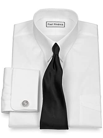 Paul fredrick men 39 s pinpoint snap tab collar french cuff for Snap tab collar shirt