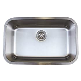 Blanco BL441025 BlancoStellar Medium Single Bowl Undermount Sink, Refined Brushed