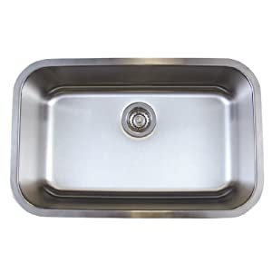 Blanco BL441025 BlancoStellar Medium Single Bowl Undermount Sink, Refined Brushed