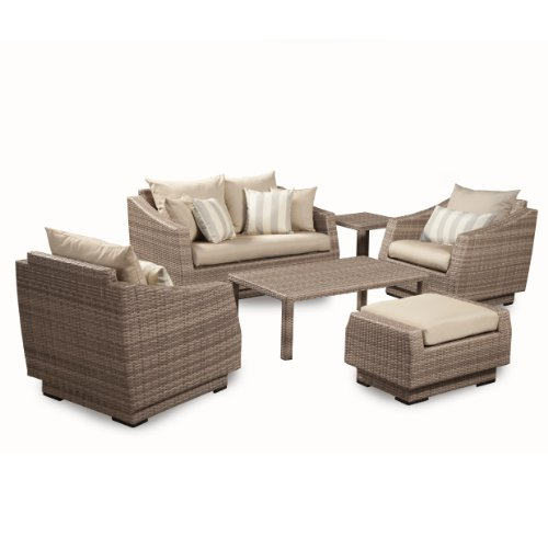Rst Outdoor 6 Piece Cannes Love And Club Deep Seating Group Patio Furniture Set Slate Gray Best