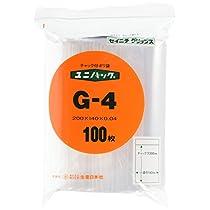 ユニパック (チャック付ポリ袋)(100枚入) G-4