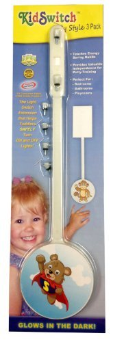 KidSwitch Toggle Light Switch Extender - My Style Animals - 3 Pack