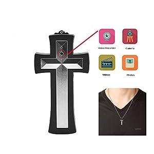 JC Cross Necklace Spy Camera, Ultimate Hidden Digital Camcorder- 8GB Internal Memory, Mini DVR Camera Easy to use