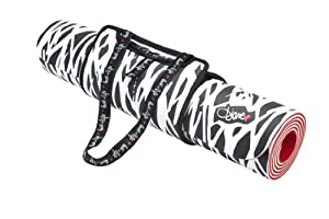 Diane von Furstenberg Yoga Mat Black & White Zebra with Carrying Case