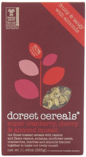 Dorset Cereals Muesli, Super Cranberry, Cherry and Almond, 11.46-Ounce (Pack of 5)