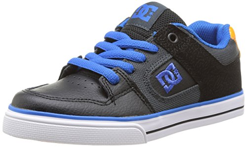 DC Pure Skate Shoe ,Black/Grey/Blue,6.5 M US Big Kid