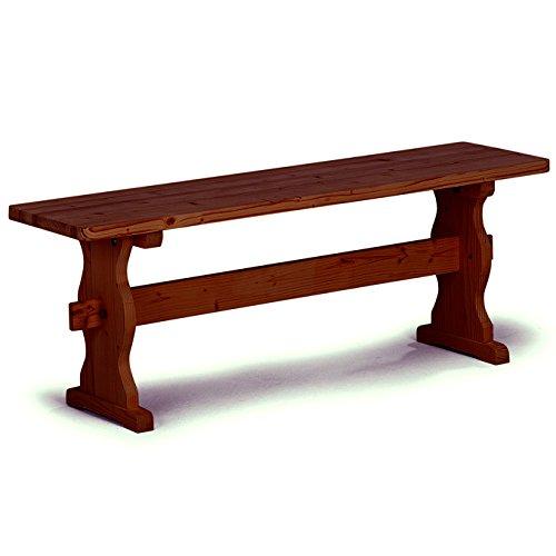 Panca per tavolo da pranzo rustico da cucina legno massello noce 160x33x45