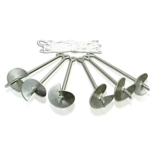 Caravan Canopy Domain Carport Anchor System, Set of 6 Anchors, Metallic image