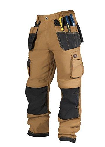 Lee Cooper, Pantaloni cargo da lavoro Uomo, Marrone (Tan/Black), 36 w/32 l