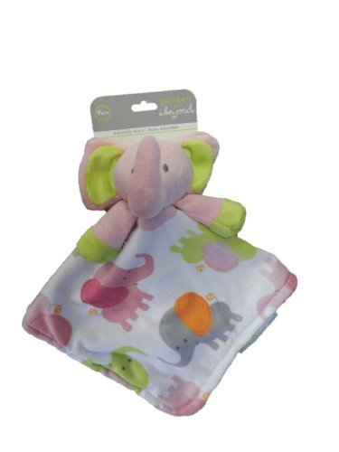 Blankets & Beyond Pink Elephant Security Blanket - 1