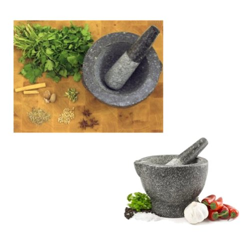 Kitchen Traditional Carved Granite Mortar & Pestle Spices & Herbs Grinder Small