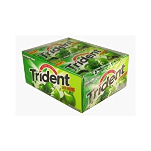Trident Sugarless Gum with Xylitol, Green Apple Fusion Flavor - 12/Pack, 12 ea
