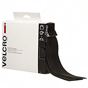 Velcro Industrial Strength 15ft x 2in tape, Black (90197)