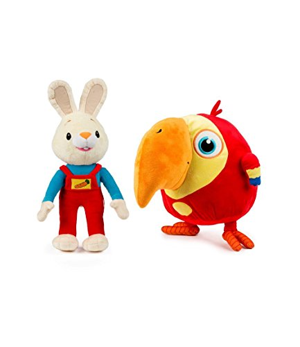 Baby First TV - Plush Set - Harry the Bunny and VocabuLarry - PERFECT BIRTHDAY GIFT (Baby First Tv Characters)