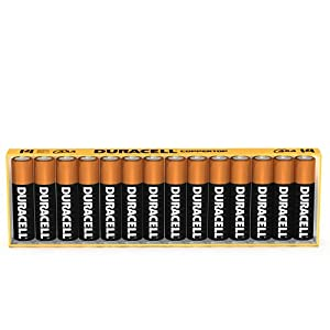 Duracell Coppertop Batteries: 28-count AA or AAA $11.70