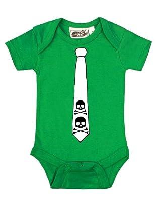 Skull Tie Green & White One Piece