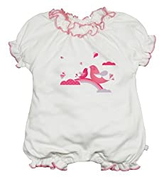 Babysoy Bubble Romper (Baby) - Magpie-3-6 Months