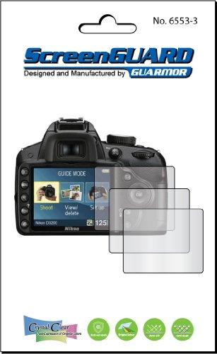 3X Nikon Digital Slr D3200 Digital Camera Premium Clear Lcd Screen Protector, 100% Fit, No Cutting (3 Pieces)
