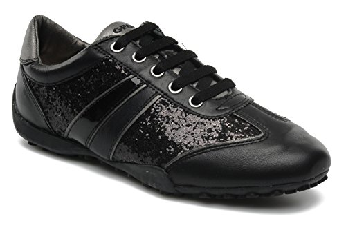 Geox-DonnaSnake-F-Zapatillas-de-Piel-para-mujer-Negro-negro
