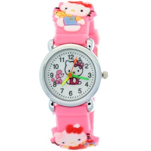 Pink-Rubber-Strap-Resin-Case-Kids-Digital-Watches-Hello-Kitty-Motif