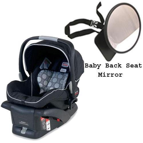 Britax - B-Safe Infant Car Seat In Black W Back Seat Mirror front-633333