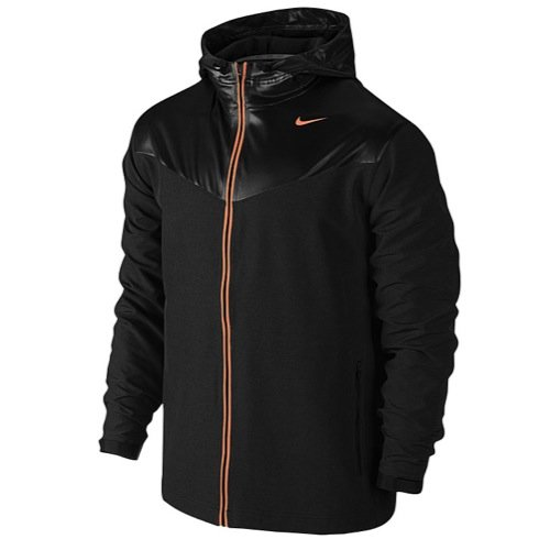 Nike Men's Sweatless Hooded Training Jacket-Dark Gray-2XL