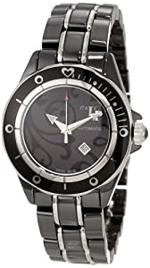 Lucien Piccard Women's 27106BKPAS Celano Automatic Black Dial Black Ceramic Watch