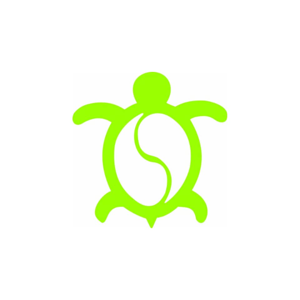HONU TURTLE Hawaii Sea Turtle 4 (color LIME GREEN) Vinyl Decal Window Sticker for Cars, Trucks, Windows, Walls, Laptops, and other stuff.