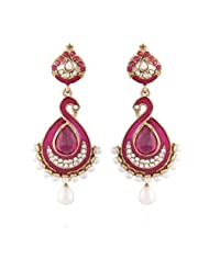 I Jewels Tradtional Gold Plated Elegantly Handcrafted Pair Of Fashion Earrings For Women. - B00N7IP4HQ
