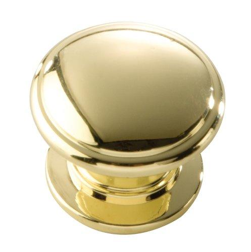Hickory Hardware P3053-Pb 1-1/4-Inch Williamsburg Cabinet Knob, Polished Brass front-736965
