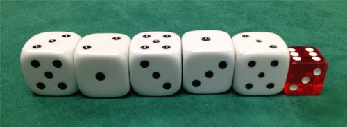 Official casino dice size