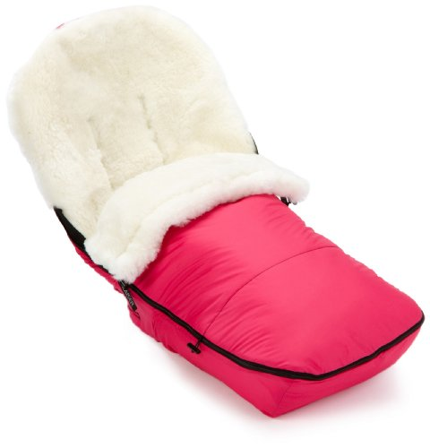 Kaiser Stroller Sheepskin Foot Muff for Bugaboo Cameleon White Sheepskin (Pink)
