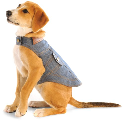 Dog Gone Smart 20-Inch Jean Jacket For Dogs, Denim