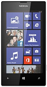 Nokia Lumia 520 Smartphone (10,1 cm (4,0 Zoll) WVGA ClearBlack LCD Touchscreen, 5,0 Megapixel Auto Fokus Kamera, 1,0 GHz Dual-Core-Prozessor, Windows Phone 8) weiß