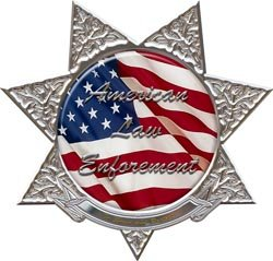 American Law Enforcement Decal 7 Point Star - 6