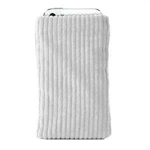 Katinkas USA 4012 Corduroy Sleeve Smart Phone Pouch for Sony Ericsson Active - 1 Pack - Retail Packaging - White