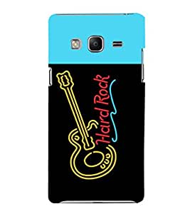 printtech LED Hard Rock Guitar Back Case Cover for Samsung Z3 :: :Samsung Z300H/DD