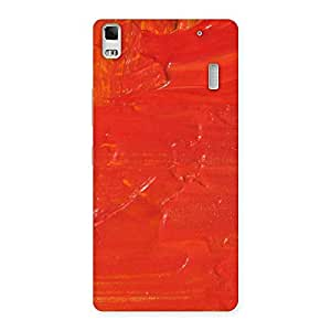 Orange Paint Texture Back Case Cover for Lenovo A7000